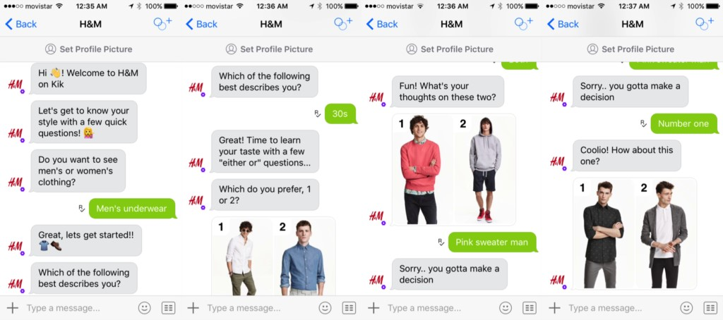 benefits of chatbot h&m