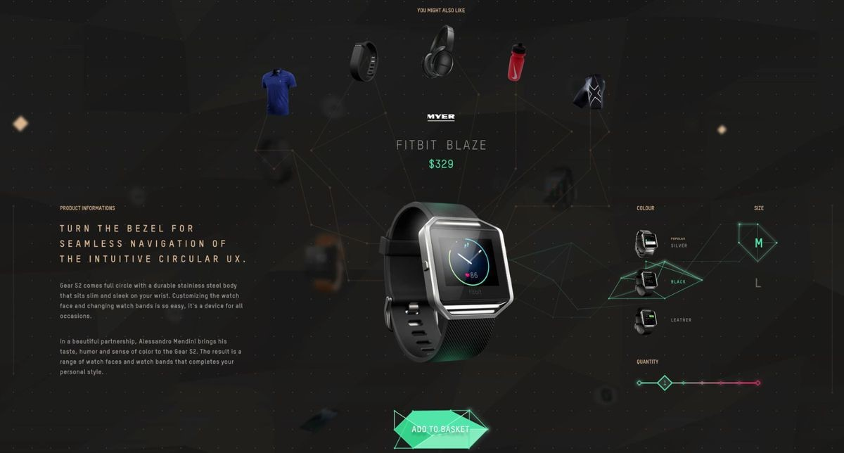 vr and retail fitbit
