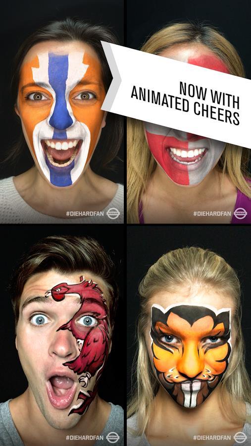 AR facial recognition