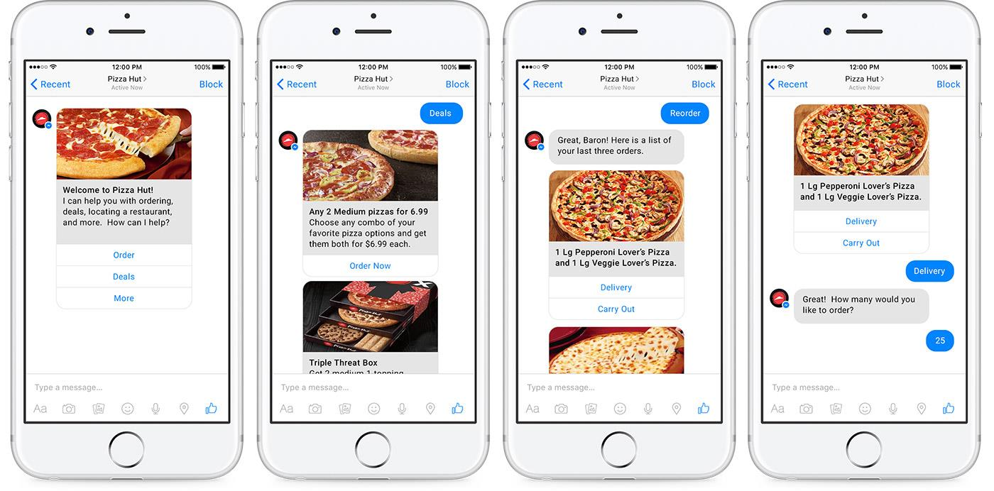 Chatbot for pizza ordering