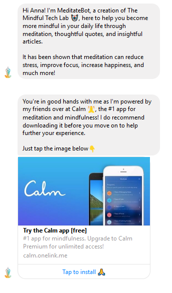 MeditateBot screenshot