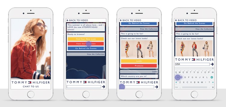Tommy Hilfiger chatbot screenshot