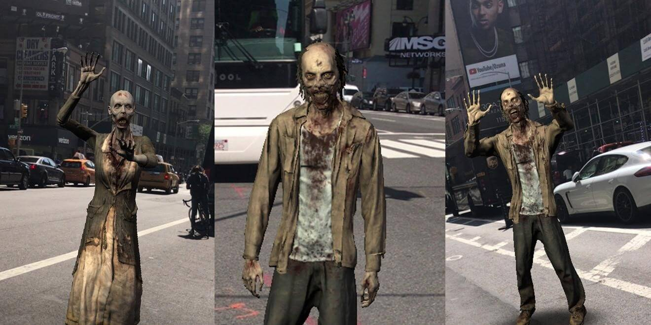 AR mobile game The Walking Dead
