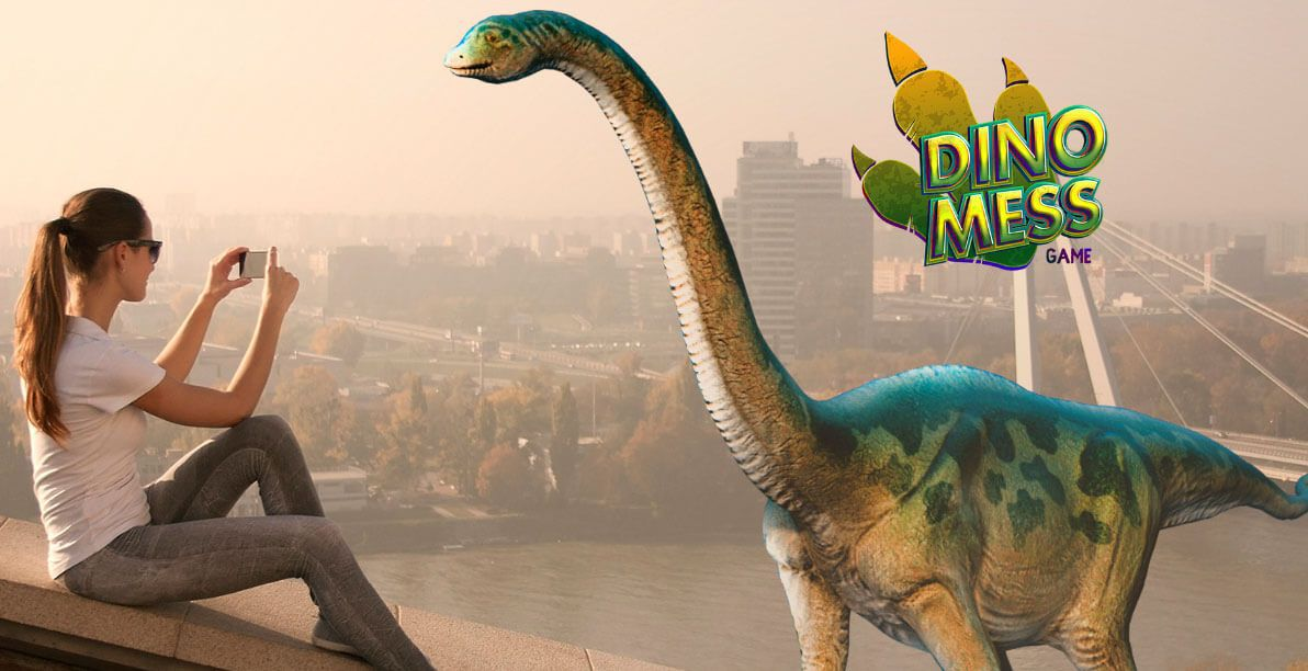 Augmented reality game Dino