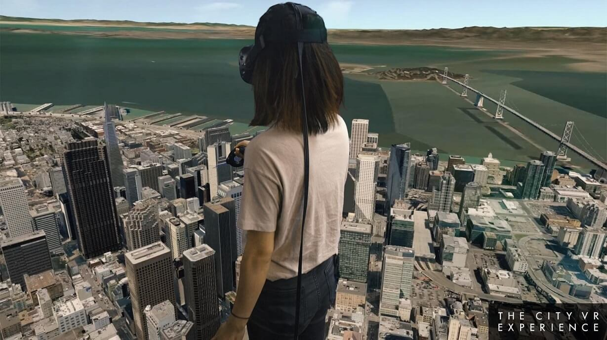 virtual reality applications cities