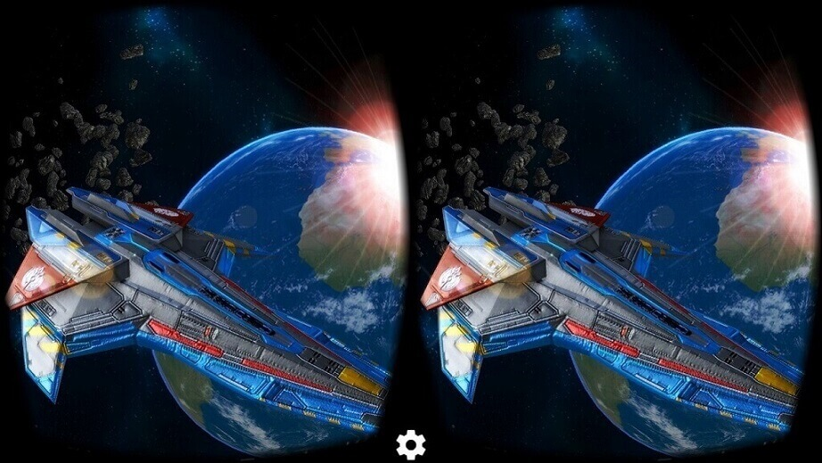 virtual reality applications deep space battle