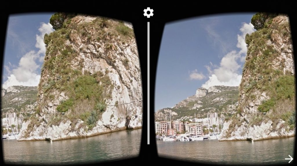 virtual reality applications google street view