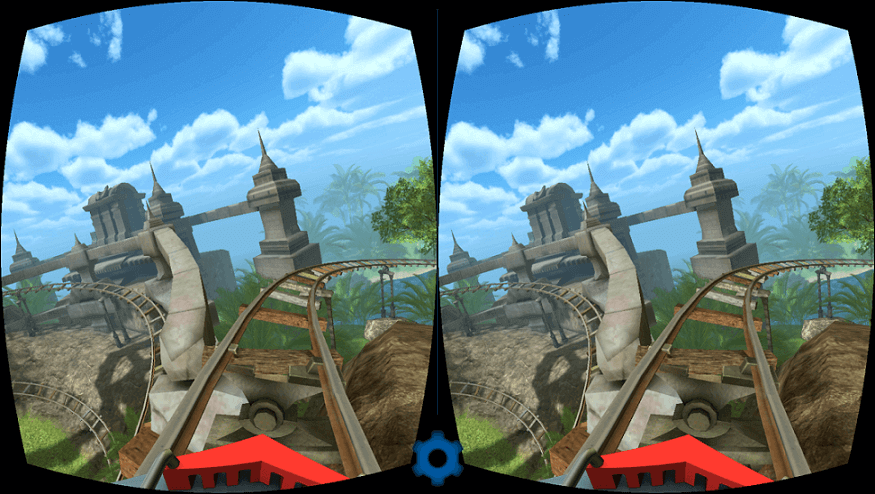 virtual reality applications roller coaster