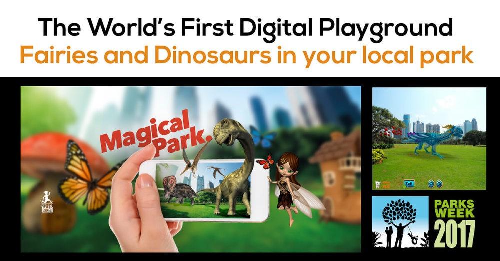 AR mobile game
