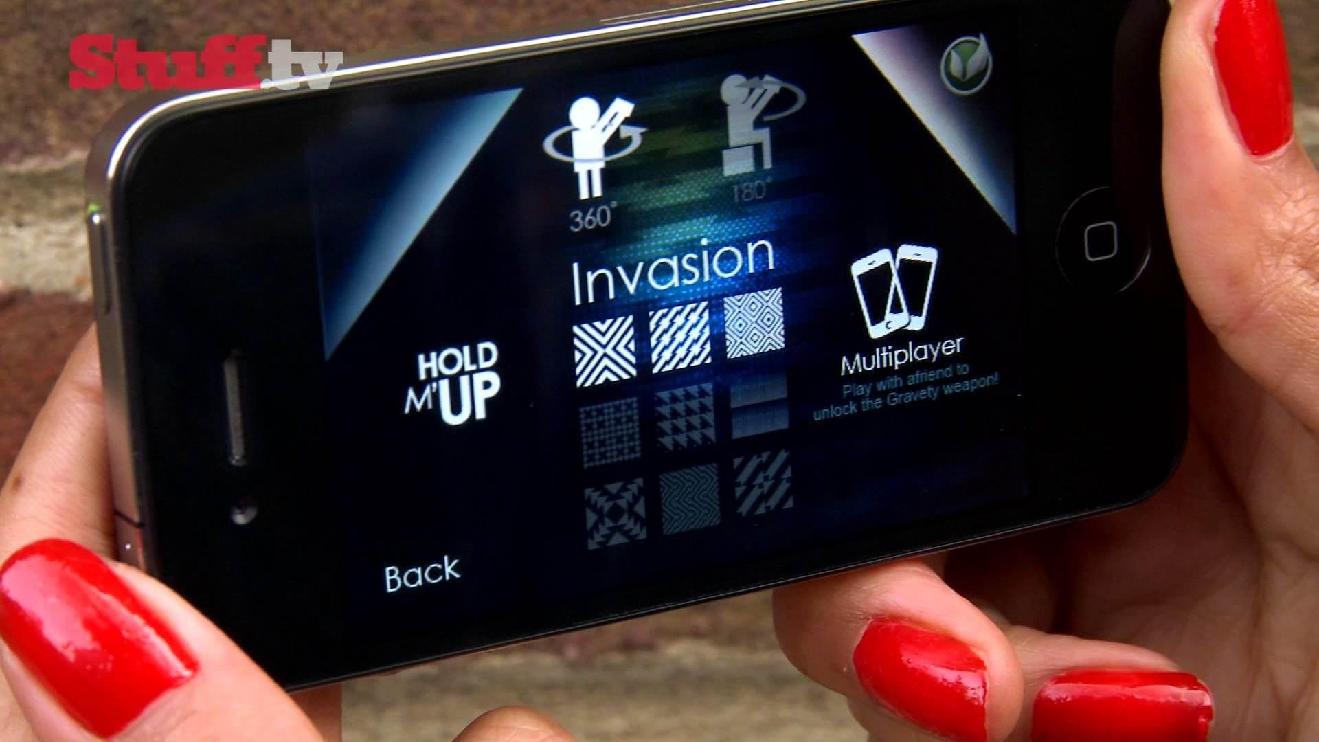 AR Invaders game screenshot