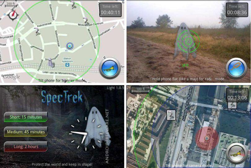 ar game SpecTrek screenshots