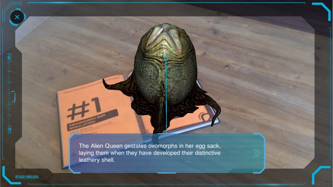 android AR mobile game Alien