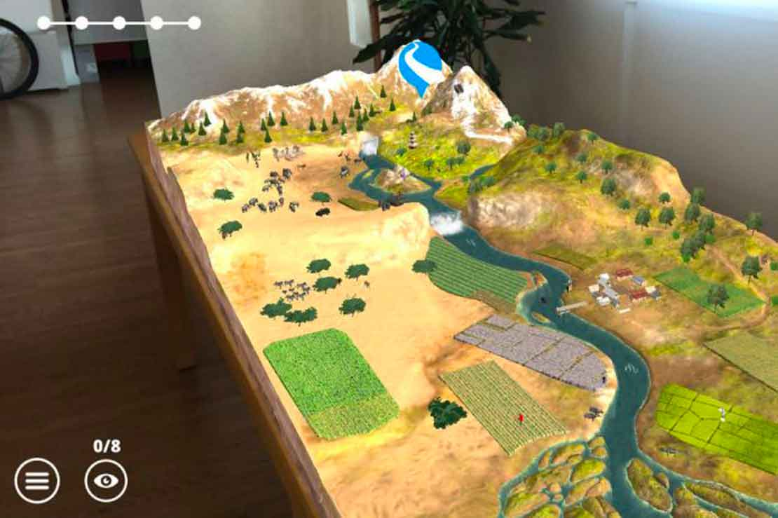 augmented reality WWF Free Rivers