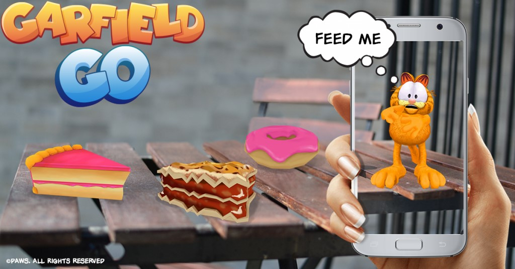 augmented reality garfield go