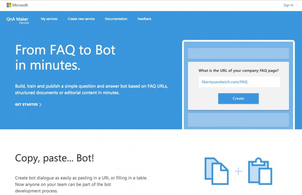 bot design screenshot
