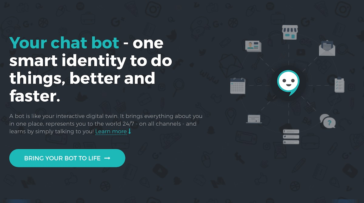 create a chatbot screenshot