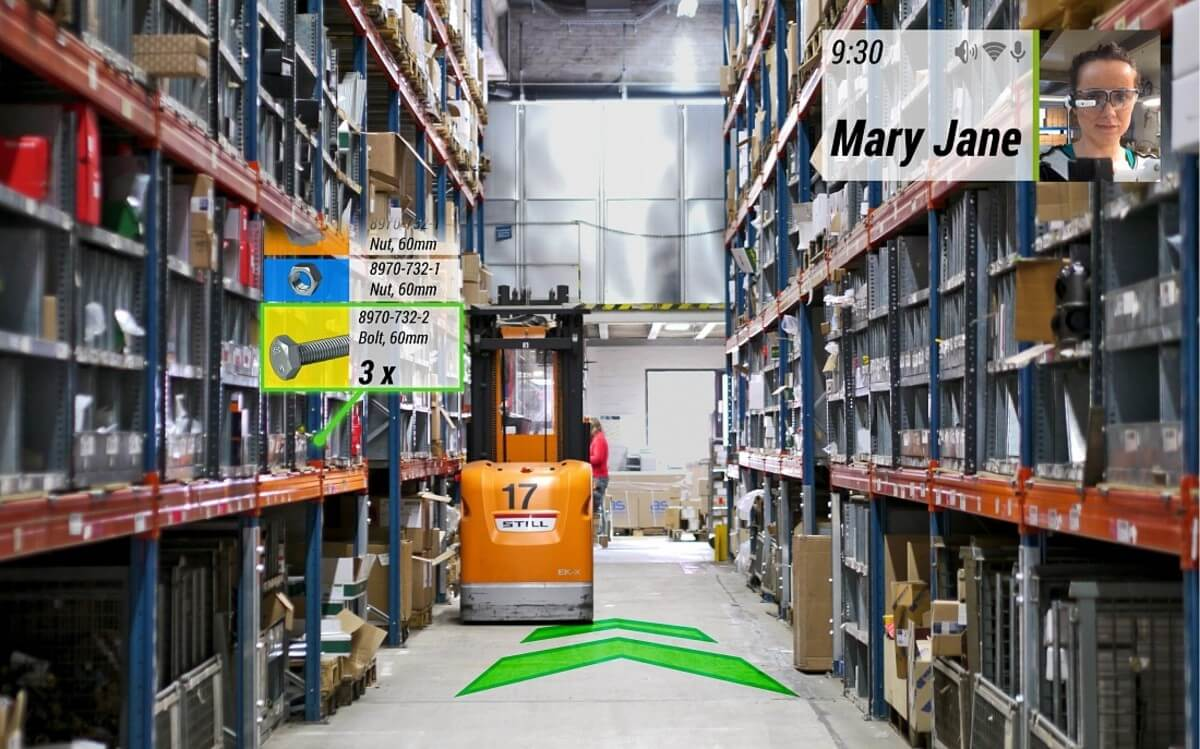 augmented reality app cost warehouse