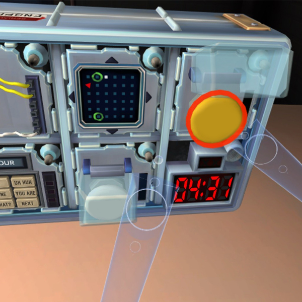 Virtual reality training for bomb disposal squad