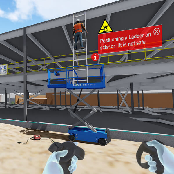 Warehouse safety training in VR