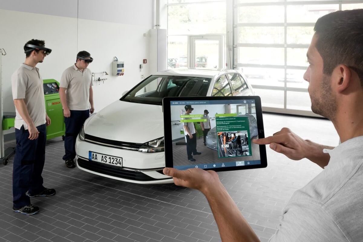 car repair with augmented reality