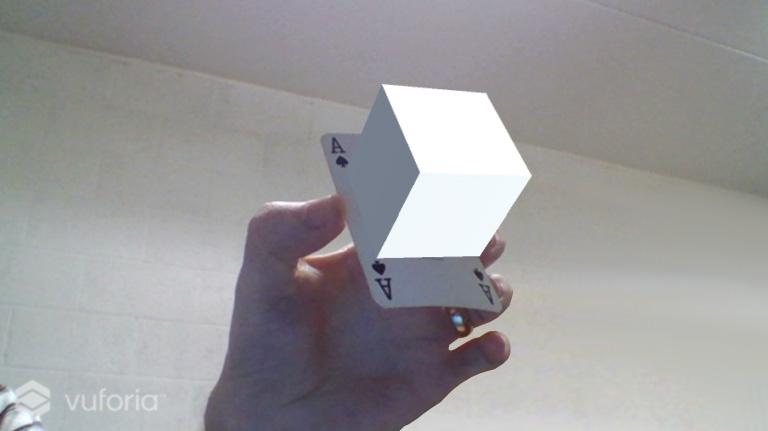 content - vuforia displays 3D content
