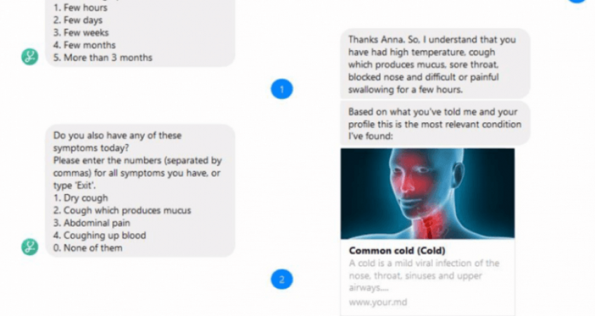 chatbot screenshot