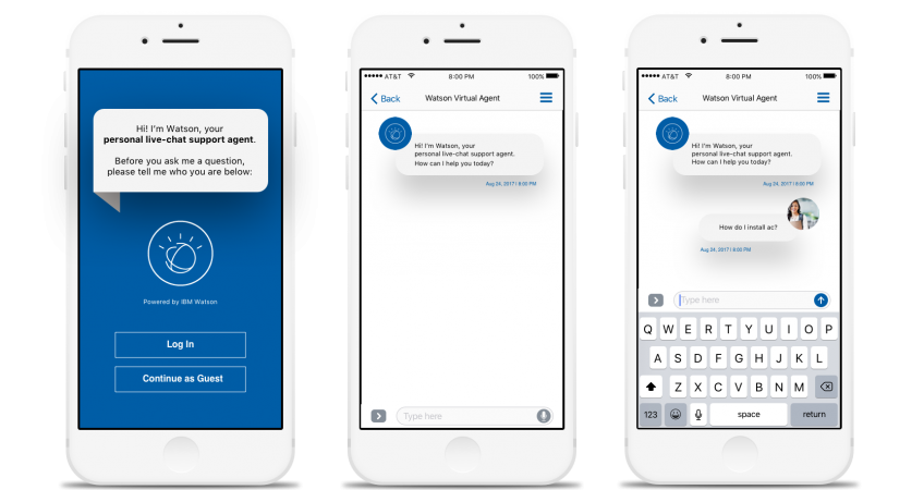 Watson virtual agent screenshot
