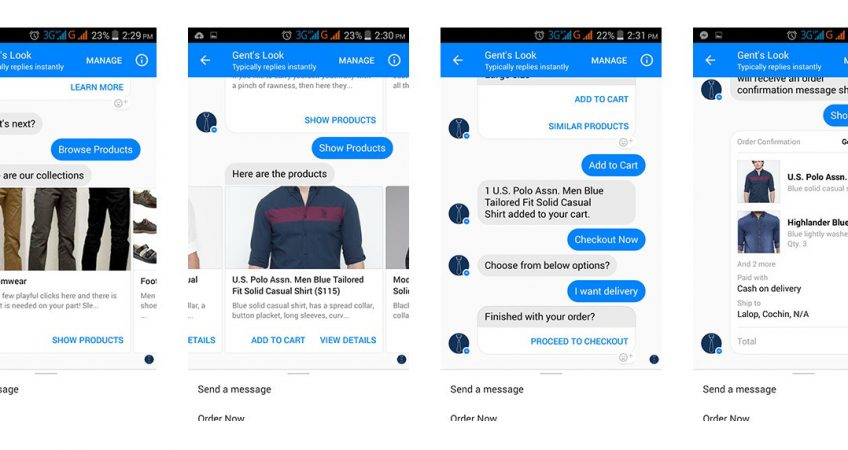 chatbot for ecommerce screenshot